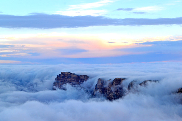 total cloud inversion grand canyon