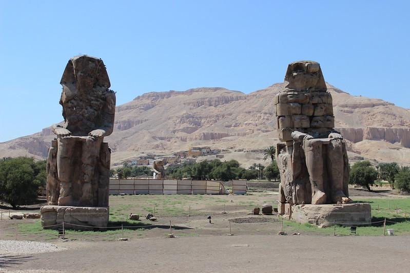 The Colossi of Memnon today in Luxor
