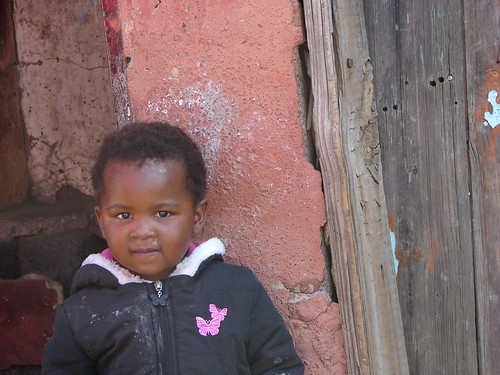 pink red house kid babygirl lesotho