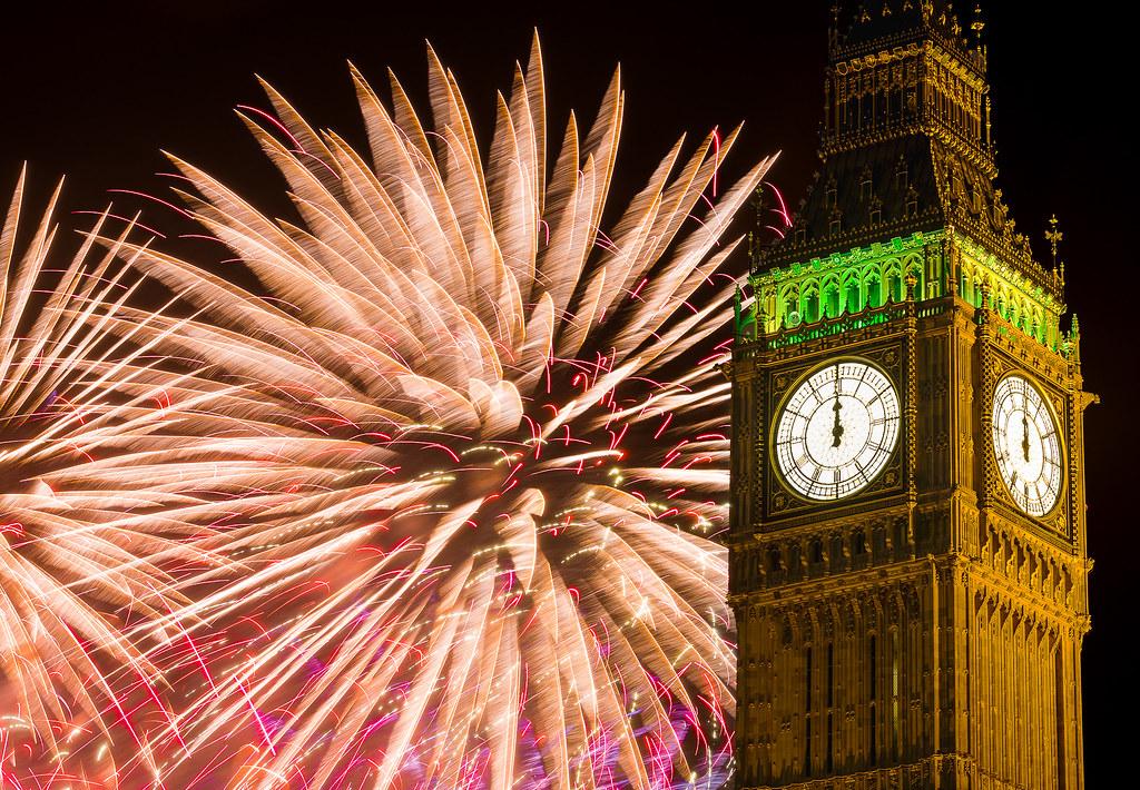 Novoročný ohňostroj v Londýne