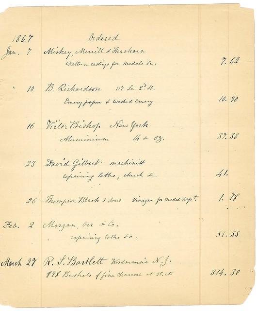 FirstPurchaseofAluminum1867
