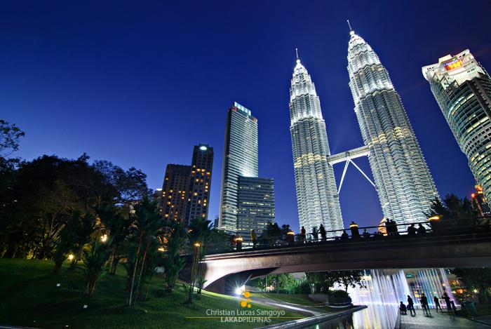 The Petronas Towers in Kuala Lumpur, Malaysia