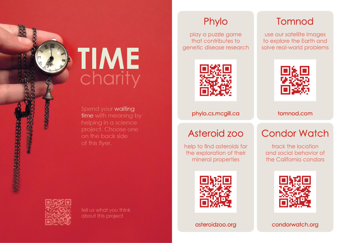 Time charity flyer