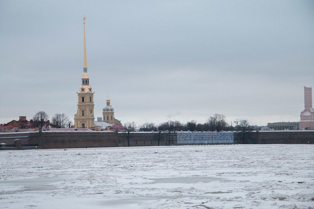 St. Peter and Paul Fortress from across the Neva River