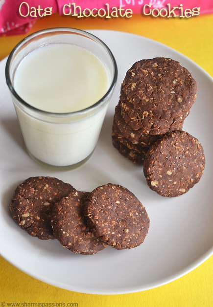 Choco Oats Cookies Recipe