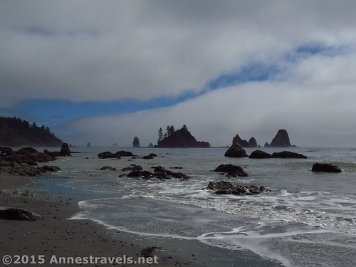 The Giant's Graveyard from the beaches south of Third Beach, Olympic National Park, Washington