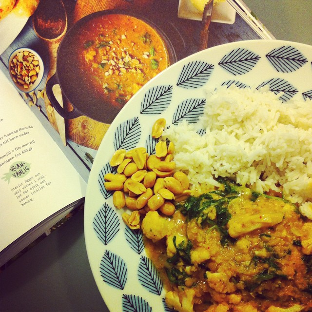 Så god currygryta med linser och blomkål från #MeraVego! #vadveganeräter
