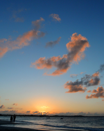 sunset beach clouds landscape v1 turksandcaicosislands nikon1