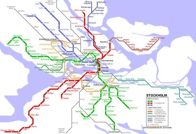 T bana stockholm-map