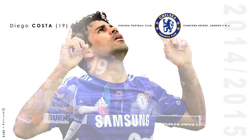 Diego COSTA screensaver - season 2014-15 – PC & Smartphone size
