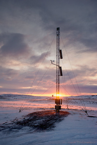 snow ice clouds radio sunrise iceland wires mast oru 2015