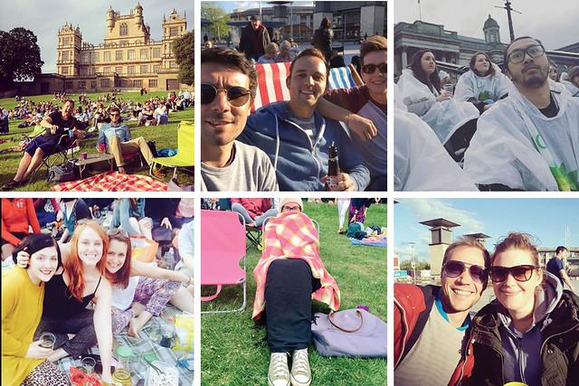 Selfies at BP Big Screens © Instagram / (from left-right) @tamsandeman/  @yolandbosiger/ @kfong88/ @gibbs_sophie/ @tamsandeman/ @noseyparkers