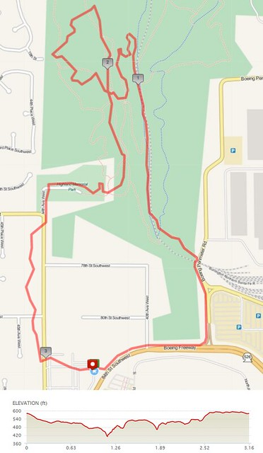 Today's awesome walk, 3.16 miles in 1:23, 8,198 steps, 187ft gain