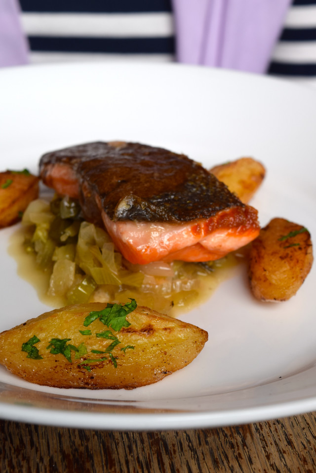 Sea Trout at Wyatt and Jones, Broadstairs | www.rachelphipps.com @rachelphipps