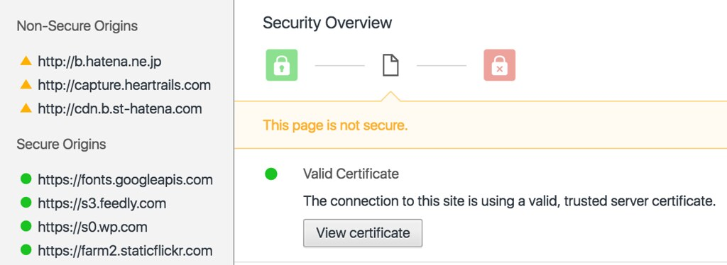 Chrome Secure/Non-Secure source