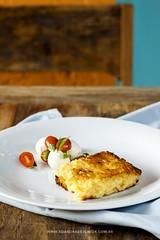 Riso al salto com mini salada caprese. 🔥 Chef B…