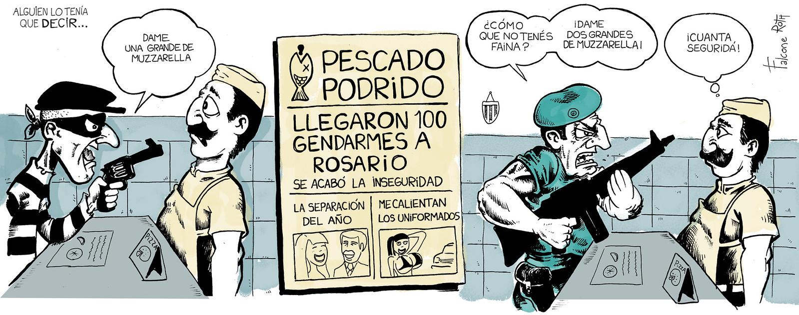 reactivación por la llegada de gendarmeria a Rosario