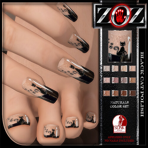 -{ZOZ}- Black Cat polish