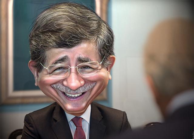 Ahmet Davutoğlu - Caricature