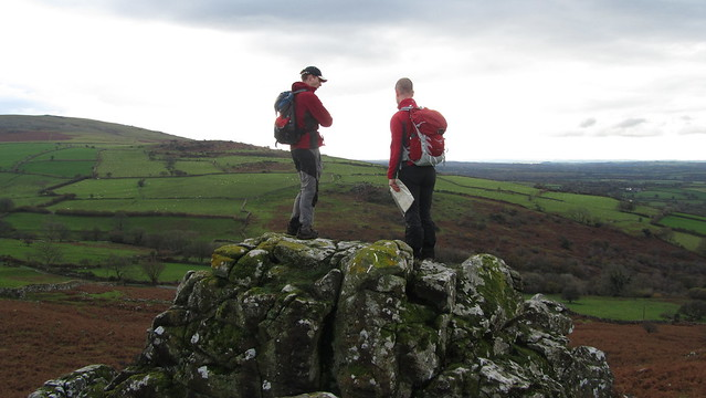Phil and Jim on Little Boulters Tor