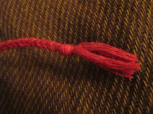 Medieval textile purse - 12