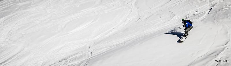 Snowboard Monginevro freeride rocher de l'aigle