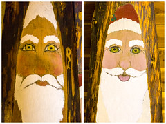 Diptych: Sad Santa, Happy Santa