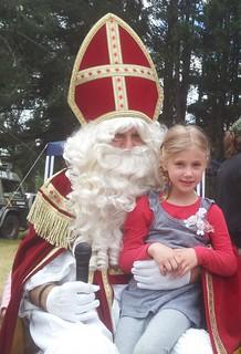 Nova with Sinterklaas