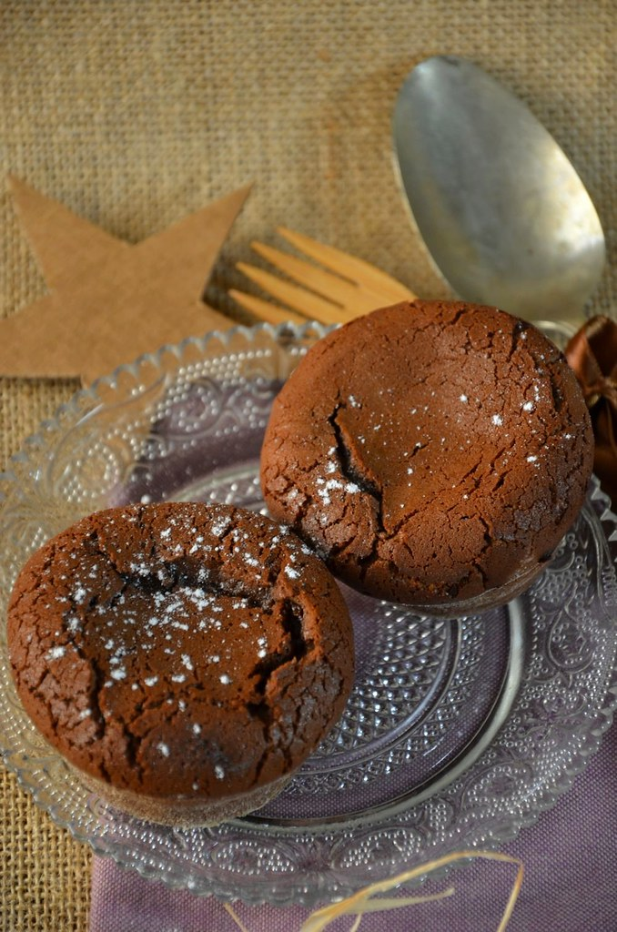 Moelleux au chocolat cœur coulant au caramel