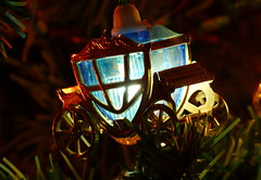 Christmas lights carriage