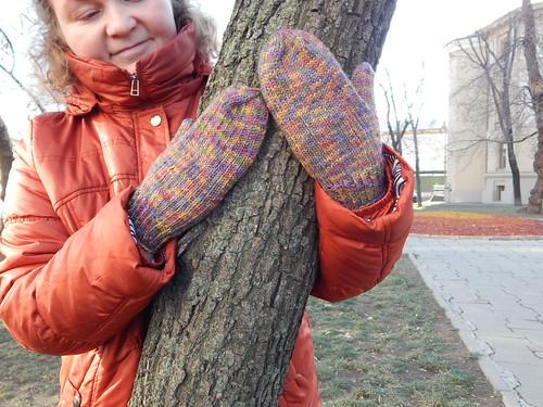 варежки на дереве