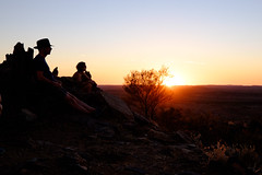Broken Hill - figures at sunset