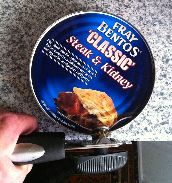 Opening the tin