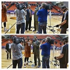 Texas dominates tonight in Fort Worth over the Horned Frogs of TCU. I got an interview with Coach Barnes and Cam Ridley who had 10 points and 3 blocks. @texasmbb