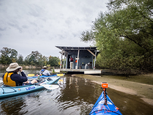 Savannah River from Stokes Bluff with LCU Nov 7, 2014, 4-18 PM Nov 8, 2014, 9-54 AM