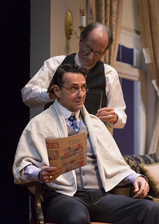 Will LeBow and Stephen Schnetzer in Clifford Odets' stirring American classic AWAKE AND SING!, directed by Melia Bensussen, playing November 7 – December 7, 2014 at the BU Theatre / Avenue of the Arts.  Photo: T. Charles Erickson