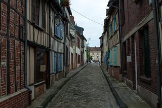 Anciennes maisons paysannes dans la Rue Nicolas Pastour