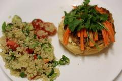 Banh Mi Burger & Quinoa Tabbouleh