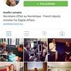 @axellelemaire with 0 following. Va falloir changer ça Madame la Ministre, ce n'est pas très digitalement Républicain ;)