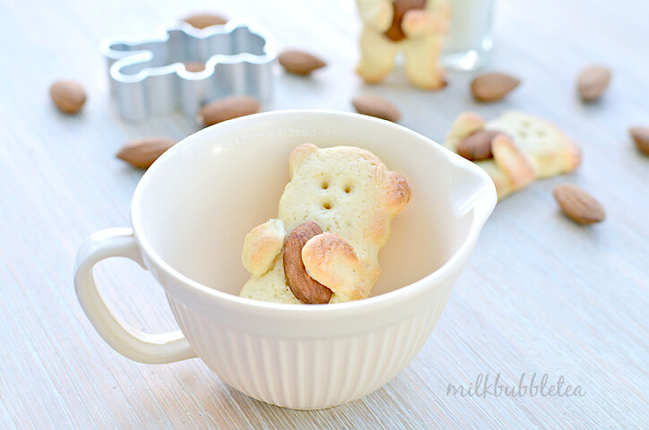 huggie bear biscuits cup almond