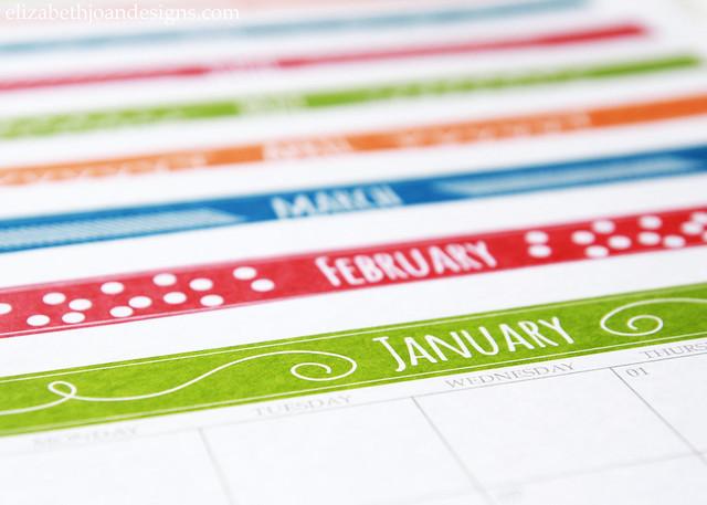 2015 Printable Calendar Months