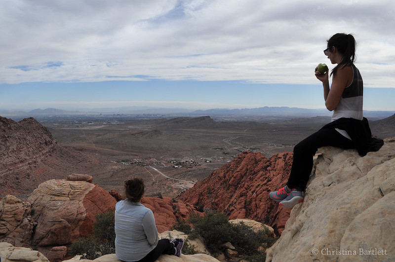 atop red rock