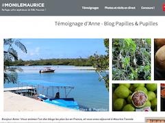 mon île Maurice, témoignage d'Anne de Papilles et Pupilles