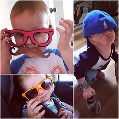 #TBT to a few of the times graham has self-accessorized. who can resist a babe in big glasses? #incognitotoddler