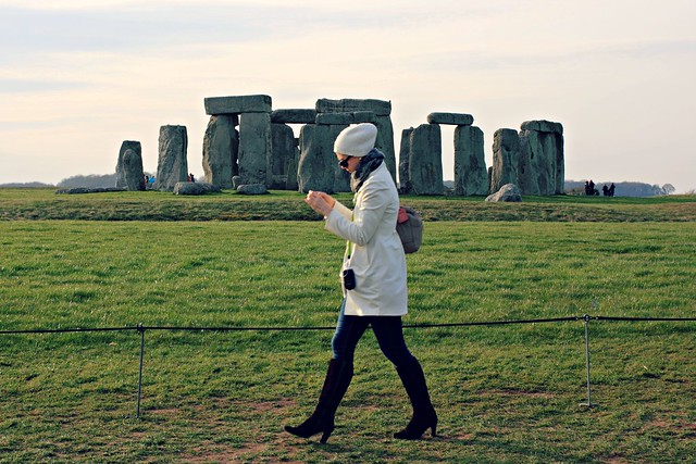 Tourist at Stonehenge