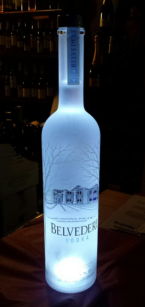 Belvedere Pure Vodka, Poland 40% (Rye Base) 175cl with light in base
