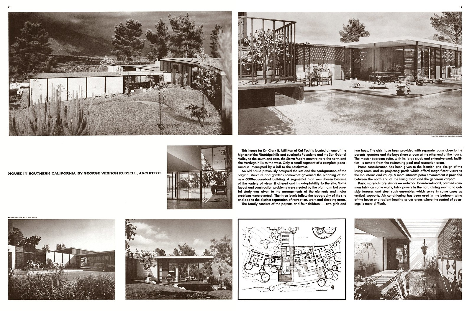 George Vernon Russell - Mallikin Residence - Southern California (1960)