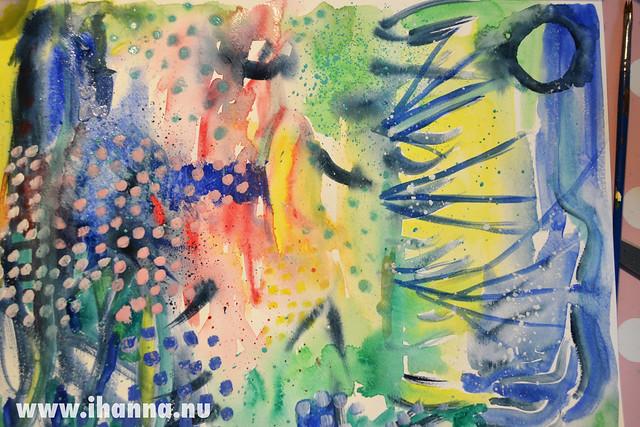 Gouache paint Experiment nr 1 by iHanna finished, www.ihanna.nu