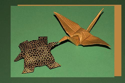 Origami Crane and turtle (Kazuo Kobayashi)