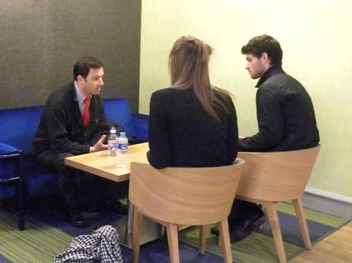 Alex Woolf and interviewers